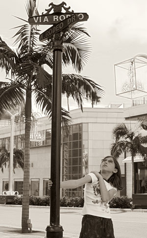 Shopping on Rodeo Drive