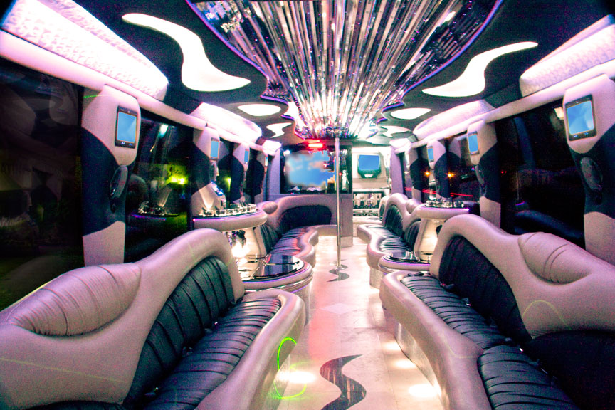 Luxury Party Bus Interior - Orange County