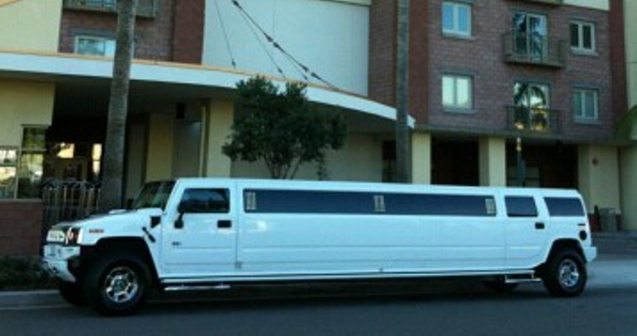 White Rose Limo White Hummer Limousine Rental