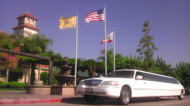 At Temecula Winery in Lincoln Limo