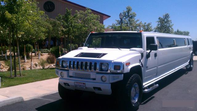 White Hummer SUV Limousine
