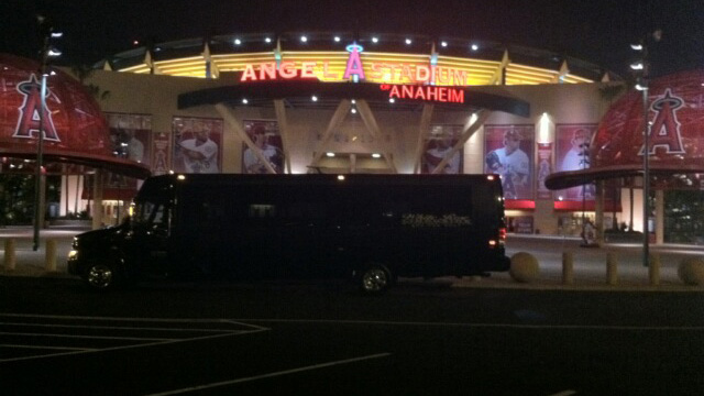 Party Bus at Anaheim Stadium