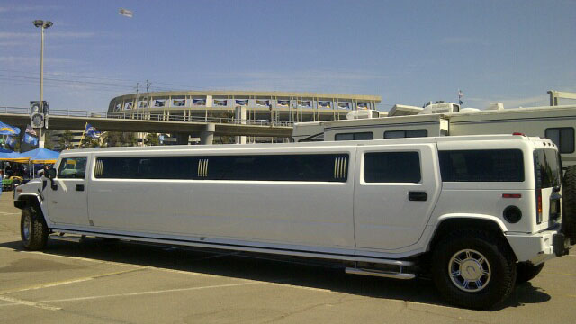 White Hummer SUV Limo Rental Newport Beach