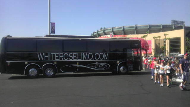 Luxury Party Bus at Angel Stadium