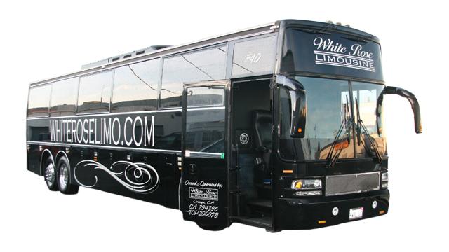 44  Passenger Limo Bus Corona