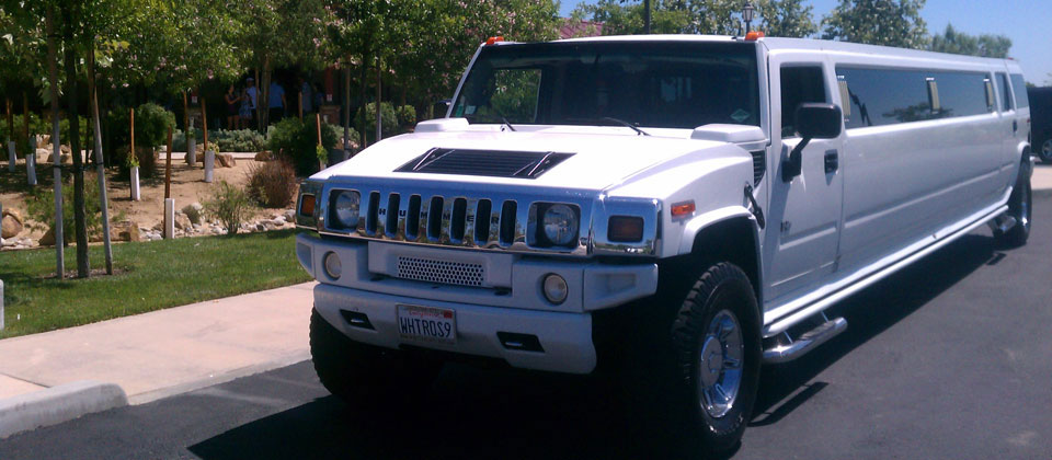 White Hummer Limo Rental Near Me