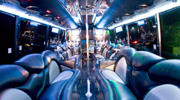 44 Passenger Party Limo Bus - Interior