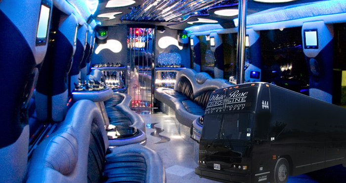 Party Bus rental near Los Angeles