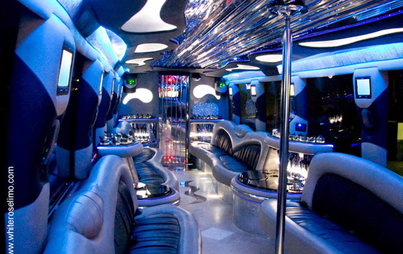 party bus rental dove canyon interior