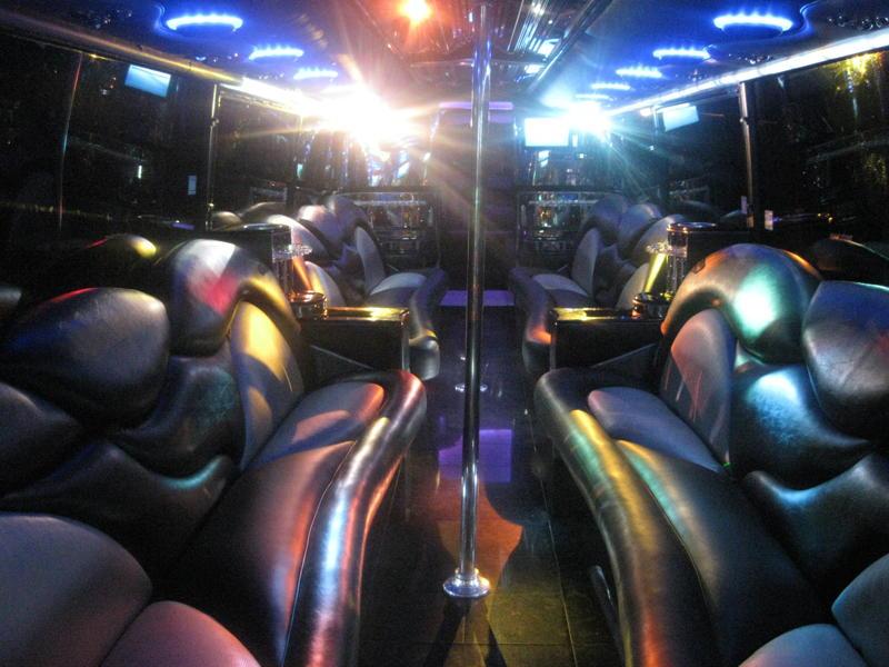 44 Passenger Limo Bus Interior