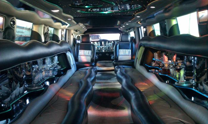 Black H2 Hummer Limo Interior