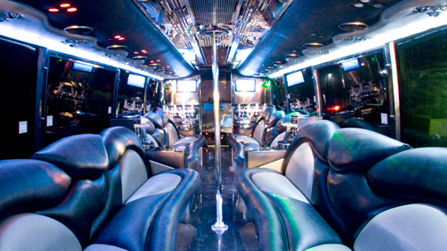 White Rose Limo Bus Rental, Interior