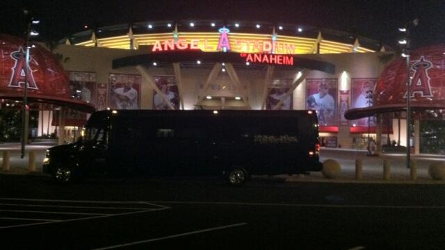 Party Bus at Anaheim Stadium