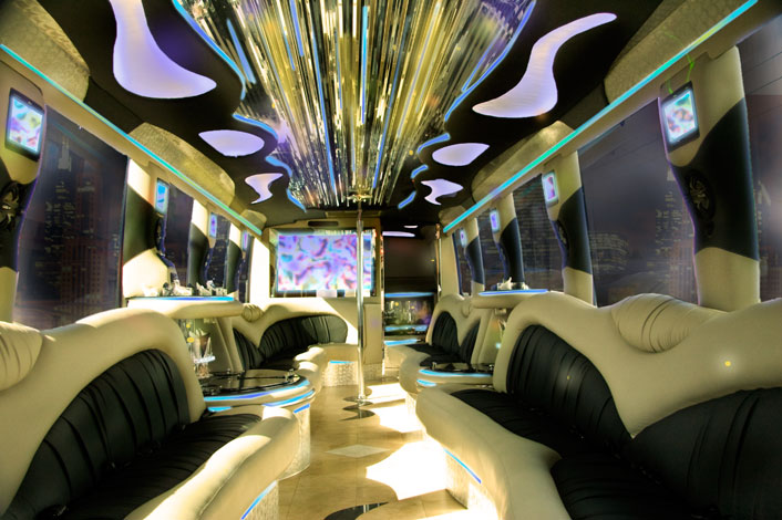 Large Shuttle Bus Interior