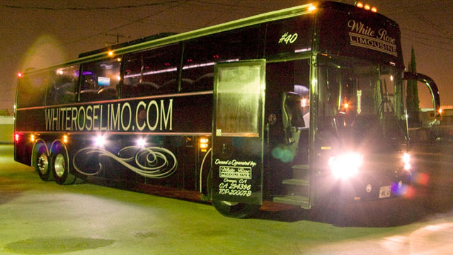 44 Passenger Limo Party Bus Rental for Prom