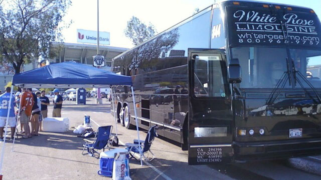 Tailgating Party w Party Bus at Chargers Game in Qualcomm Stadium, San Diego