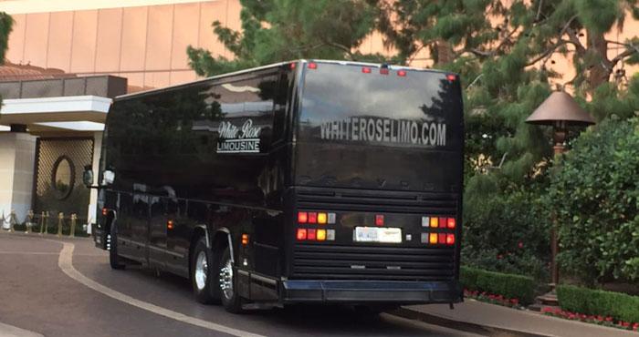 44 Passenger Party Bus Rental in Newport Beach