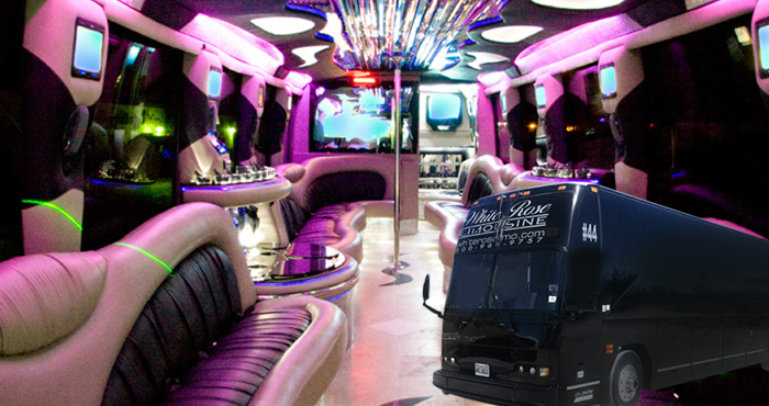 Party bus for rent in San Diego
