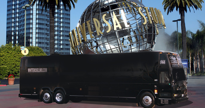 Party Bus rental Universal Studios, California