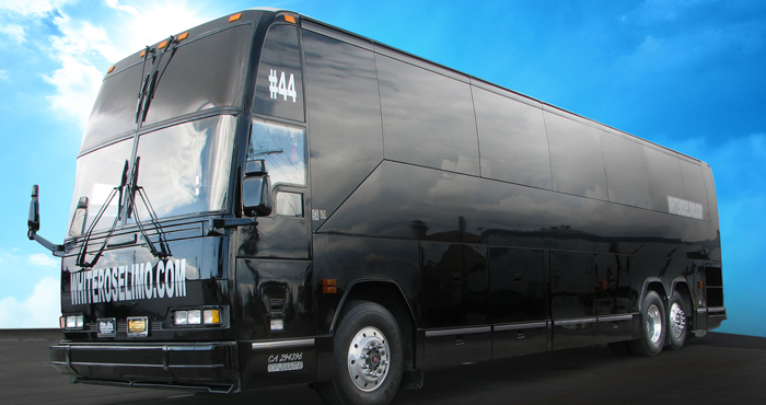 44 Passenger party bus rental in Rancho Santa Margarita