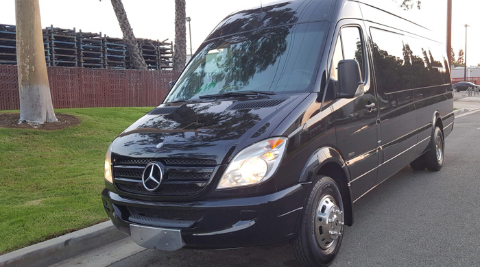 Mercedes Sprinter Limo Van Huntington Beach